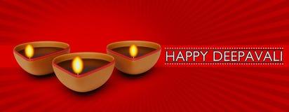 Happy deepavali greetings 3d rendering Stock Images