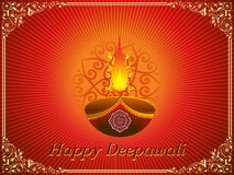 Happy deepawali greeting card Stock Photography