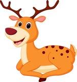 Happy deer cartoon Stock Image