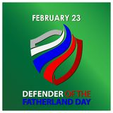 Background Russian national holiday of february 23. Happy Defender of the Fatherland Day. Designs for posters, backgrounds, cards. Banners, stickers, etc. EPS stock illustration