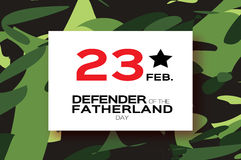 Happy Defender of the Fatherland day. 23 February Stock Images