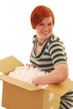 Happy delivery Royalty Free Stock Photo