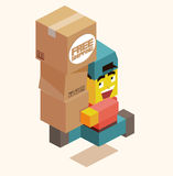 Happy delivery Stock Images