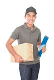 Happy delivery man Royalty Free Stock Images