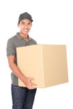 Happy delivery man Stock Photo