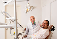 Happy dental patient Stock Photos