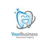 Happy dental, smile toot logo Royalty Free Stock Image