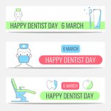 Happy Dentist Day banners royalty free illustration