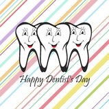 Happy Dentist Day. Royalty Free Stock Photos