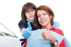 Happy dentist visit concept Royalty Free Stock Photography