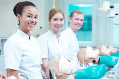 Happy dentistry students Stock Photos