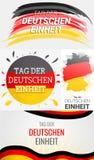 Happy deutschen Einheit banner set, hand drawn style royalty free illustration