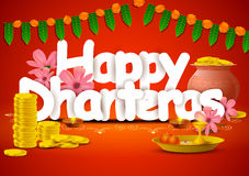 Happy Dhanteras wallpaper background Stock Image
