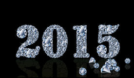 Happy diamond new year 2015 Royalty Free Stock Photo