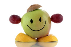 Happy diet. Funny fruits character collection. On white background Royalty Free Stock Photography