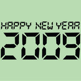 Happy digital 2009. Illustration of a LED screen showing the message Happy New Year 2009 royalty free illustration