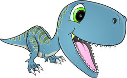 Happy Dinosaur T-Rex Vector Royalty Free Stock Photography