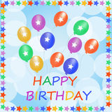 Happy dirthday card Stock Images