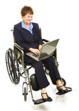 Happy Disabled Businesswoman with Laptop Royalty Free Stock Images