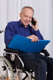 Happy, disabled man Royalty Free Stock Images