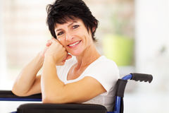 Happy disabled woman Royalty Free Stock Photos
