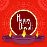 Happy divali concept background, flat style. Happy divali concept background. Flat illustration of happy divali vector concept background for web design stock illustration