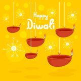 Happy divali festival concept background, flat style. Happy divali festival concept background. Flat illustration of happy divali festival vector concept stock illustration