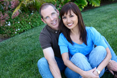 Happy Diverse Couple Stock Photography