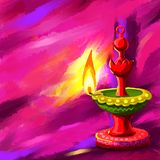 Happy Diwal Diya Royalty Free Stock Photography