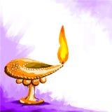 Happy Diwal Diya Stock Image