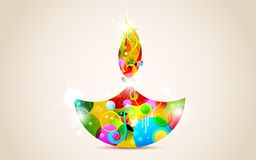 Happy Diwali. Illustration of colorful diya for Happy Diwali royalty free illustration