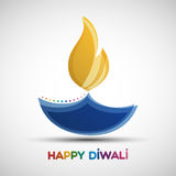 Happy Diwali abstract background. Festival of lights Deepavali. Vector illustration of Diya oil lamp for your greeting card design stock illustration