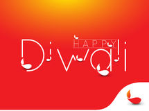 Happy Diwali Background. Abstract  illustration on the theme of the traditional celebration Stock Image