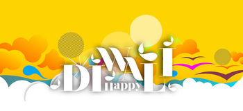 Happy Diwali Background. Abstract  illustration on the theme of the traditional celebration Stock Photo