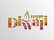 Happy Diwali Background. Abstract  illustration on the theme of the traditional celebration Stock Photography