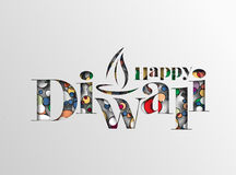 Happy Diwali Background. Abstract  illustration on the theme of the traditional celebration Royalty Free Stock Photo