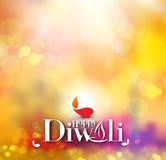 Happy Diwali Background. Abstract  illustration on the theme of the traditional celebration Stock Images