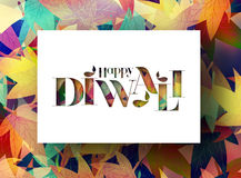 Happy Diwali Background. Abstract  illustration on the theme of the traditional celebration Royalty Free Stock Image