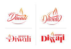 Happy Diwali Background. Abstract  illustration on the theme of the traditional celebration Royalty Free Stock Photos