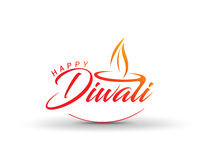 Happy Diwali Background. Abstract vector illustration on the theme of the traditional celebration Royalty Free Stock Photo