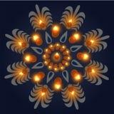 Happy Diwali Background. Burning Candle On Dark Background. Abstract beautiful Happy Diwali background. Burning candle on dark background. EPS 10 royalty free illustration