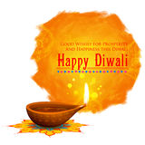 Happy Diwali background coloful watercolor diya Royalty Free Stock Images