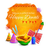 Happy Diwali background coloful watercolor diya. Illustration of Happy Diwali background colorful watercolor diya Stock Images