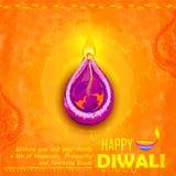 Happy Diwali background coloful watercolor diya Royalty Free Stock Photos