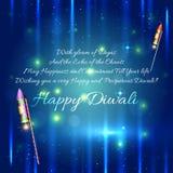 Happy diwali background design illustration Royalty Free Stock Photos