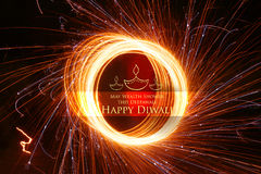 Happy Diwali background with diya and firecracker. Illustration of Happy Diwali background with diya and firecracker Stock Image