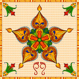 Happy Diwali background with diya Stock Images
