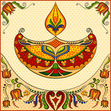 Happy Diwali background with diya Royalty Free Stock Photos
