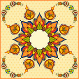 Happy Diwali background with diya Royalty Free Stock Images