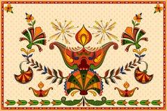 Happy Diwali background with diya Stock Photo